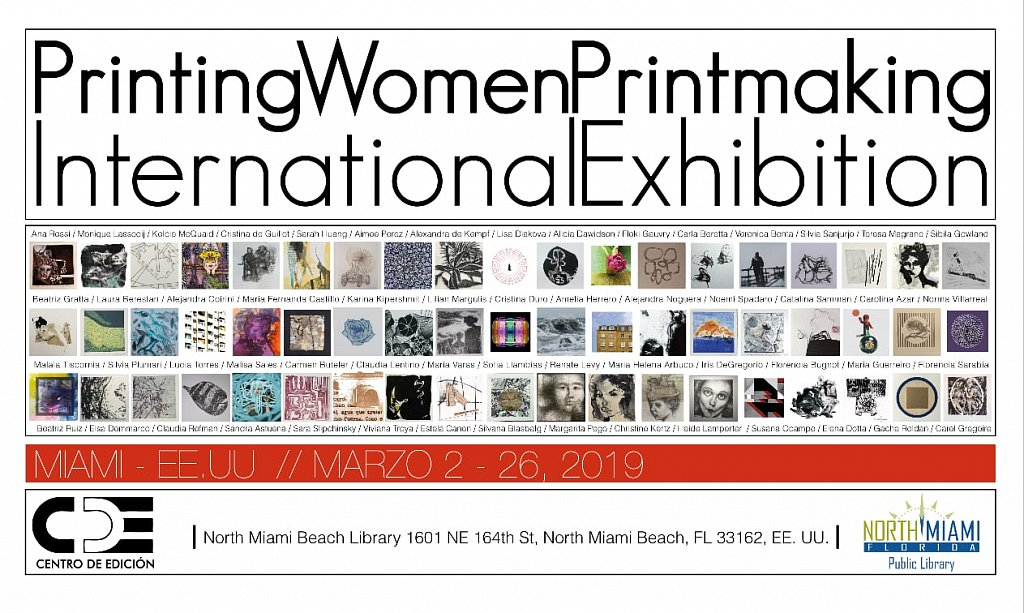Printing Women Printmaking International Exhiibitionint. Miami 2019
